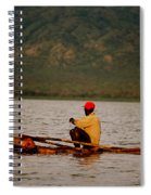 Ethiopia  Baiting A Longline On Lake Chamo Spiral Notebook