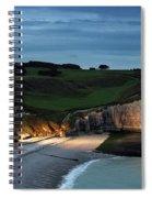 Etretat In The Evening Spiral Notebook