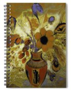 Etrusian Vase With Flowers Spiral Notebook