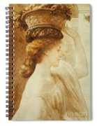Eucharis  A Girl With A Basket Of Fruit Spiral Notebook