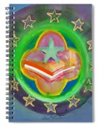 Euro Star And Stripes Spiral Notebook