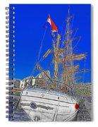 Europa Docks In Sydney Spiral Notebook