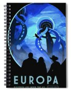 Europa Space Travel Spiral Notebook