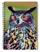 European Eagle Owl Spiral Notebook