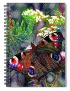 European Peacock Butterfly Spiral Notebook