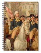 Evacuation Day And Washington's Triumphal Entry In New York City Spiral Notebook