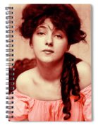 Evelyn On Aquarell Spiral Notebook