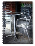 Evening At A Sidewalk Cafe Spiral Notebook