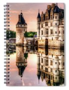 Evening At Chenonceau Castle Spiral Notebook