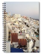 Evening At Santorini Spiral Notebook
