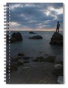 Evening At Sidna Ali Beach 3 Spiral Notebook