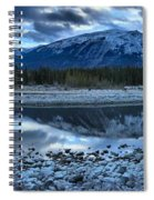 Evening At The Athabasca River Spiral Notebook