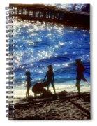 Evening At The Beach Spiral Notebook