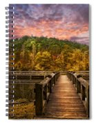 Evening At The Lake Spiral Notebook