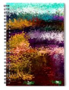 Evening At The Pond Spiral Notebook