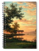 Evening Atmosphere By The Lakeside Spiral Notebook