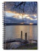 Evening Blues Spiral Notebook
