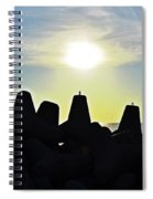 Evening By The Sea Spiral Notebook
