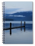 Tranquil Blue Priest Lake Spiral Notebook