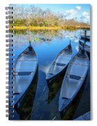 Evening Canoes At The Dock Spiral Notebook