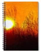 Evening Dunes Impasto Spiral Notebook