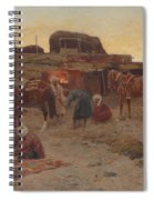 Evening Falls At The Camp Spiral Notebook