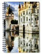 Evening Falls At The Castle Spiral Notebook