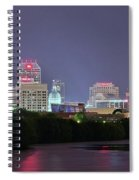 Evening Falls On Indianapolis Spiral Notebook
