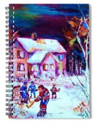 Evening  Game At The Chalet Spiral Notebook