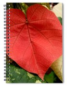 Evening Hau Tree Leaves Spiral Notebook