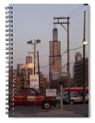 Evening In Chicago Spiral Notebook