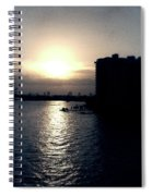 Evening In Miami Beach Spiral Notebook