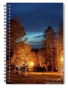 Evening In The Neighborhood Spiral Notebook