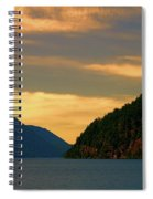 Evening Light At Lake Crescent Spiral Notebook