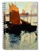 Evening Light At The Port Of Camaret Spiral Notebook