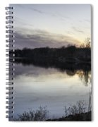 Evening Light On Lake Champlain Spiral Notebook