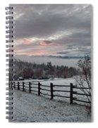 Evening Mountain Glow Spiral Notebook