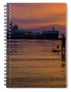 Evening On Lake Michigan At Grand Haven Spiral Notebook