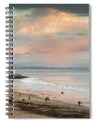 Evening On Seabright Beach Spiral Notebook