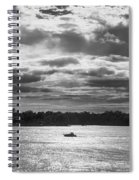 Evening On South River - Bw Spiral Notebook