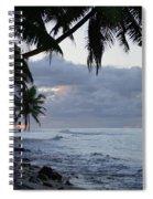Evening On The Beach Spiral Notebook