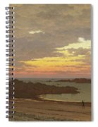 Evening On The Coast Spiral Notebook