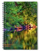 Evening On The Humber River - Paint Spiral Notebook