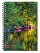 Evening On The Humber River Spiral Notebook