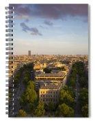 Evening Over Paris Spiral Notebook