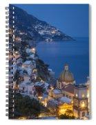 Evening Over Positano Spiral Notebook