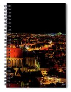 Evening Panorama - Landshut Germany Spiral Notebook