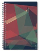 Evening Polygon Pattern Spiral Notebook