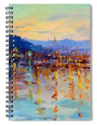 Evening Reflections In Piermont Dock Spiral Notebook