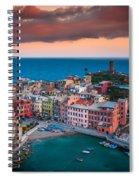 Evening Rolls Into Vernazza Spiral Notebook